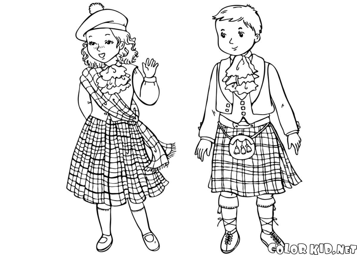 Crianças escocesas