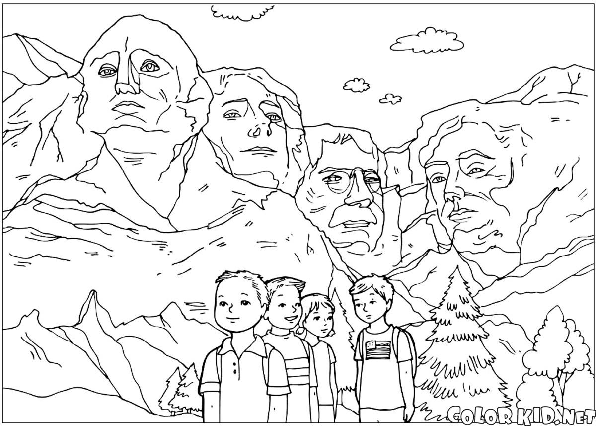 As esculturas de Mount Rushmore