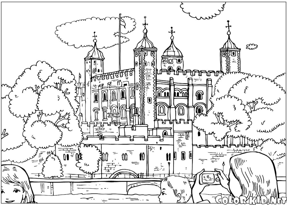 Coloring Page Torre De Londres