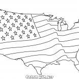 Bandeira americana Mapa