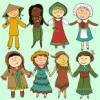 Crianças em roupa tradicional